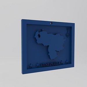 Venezuela Map 3d Print Model