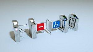 3D model turnstiles