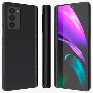 3D Samsung Z Fold 2 Black Closed