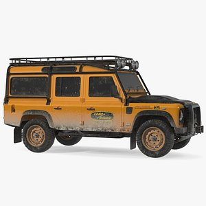 3D Land Rover Defender Exterior Only Dirty model