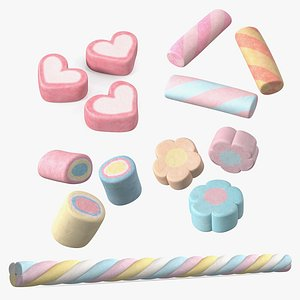 3D Shaped Marshmallows Collection 3