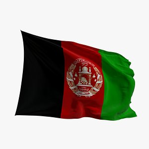 Realistic Animated Flag - Microtexture Rigged - Put your own texture - Def Afganistan model