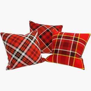 3D Tartan Pillows V2 model