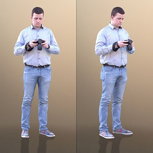 3D man camera pictures