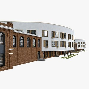 school building hostel 3D model