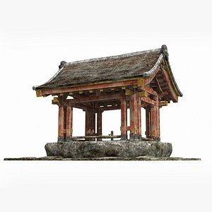 3D An ancient cistern pavilion in Asia