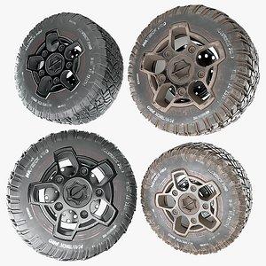 wheels clean dirty 3D model