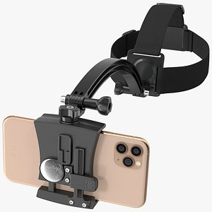 3D head mount smartphone holder