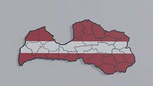 Political Map of Latvia