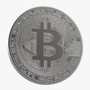 3D Bitcoin 4 Silver model