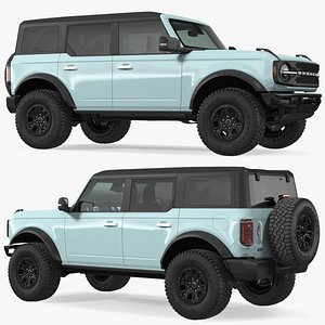 Ford Bronco 2021 Four Door Rigged 3D