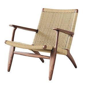 3D model CH25 Lounge Chair Carl Hansen
