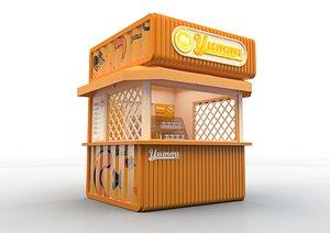 vendor kiosk te 3D model