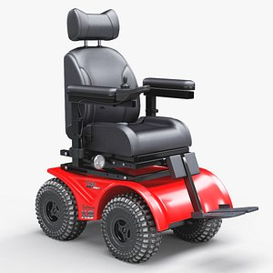 4X4 Off-Road Electric Power Wheelchair 3D model