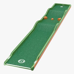 3D Minigolf 35 Portable Course Hole 8 model