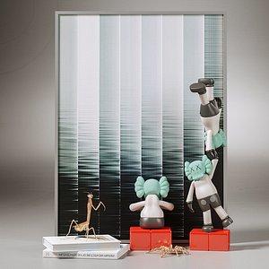 kaws toys 3D model