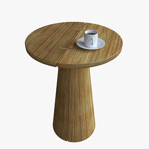 wooden table coffee 3D
