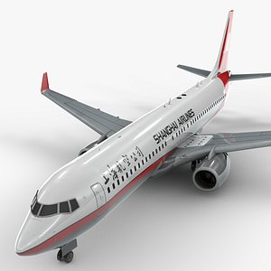 3D boeing 737-8 shanghai airlines model