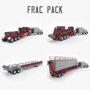 Frac Pack: Pumper, Blender, Sandhog and Missile 3D model