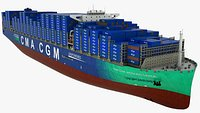 Container Ship CMA Jacques Saade