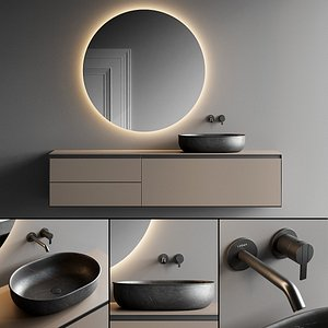 3D vanity bathroom mirror