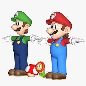Mario and Luigi Collection Super Mario Assets 3D