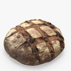 Raisin Pecan Bread 3D