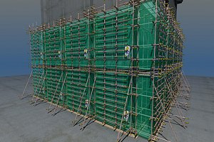 3D Construction scaffold fasteners repair construction frame cross fasteners butt fasteners constructio