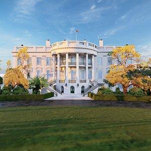White House Area Scene 3D model
