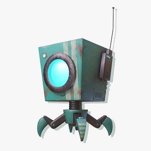 cube spider robot 3D model