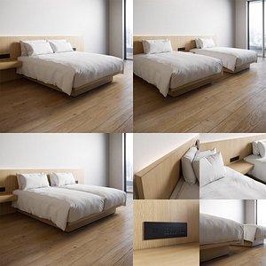 3D bed duvet model