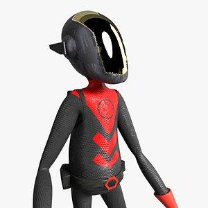 3D model Space soldier