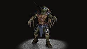 3D TMNT Leonardo game ready model