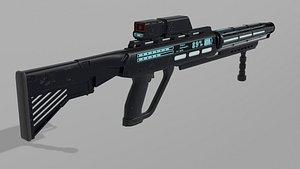 3D scifi Railgun