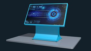 interactive touch table 3D model