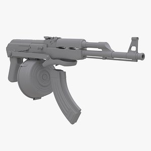 3D ak-47 foldable