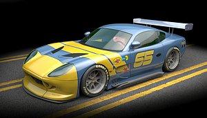 ginetta racecar g50 3D model