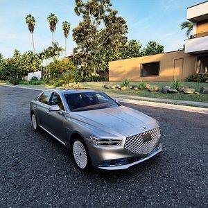 3D Genesis G90 2021 model