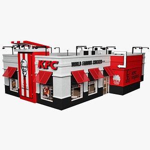 restaurant kfc 3D model