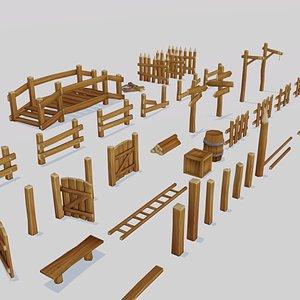 3D medieval pack props model