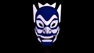 Blue Spirit Mask 3D model