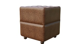 3D Chair leather model