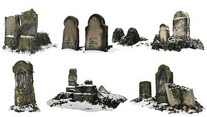 Ancient Tombs Pack 3D model