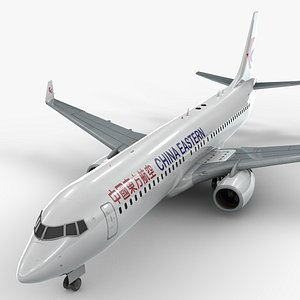 3D boeing 737-8 china eastern airlines model