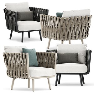tosca club chair 3D model