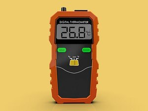 thermometer thermocouple 3D model
