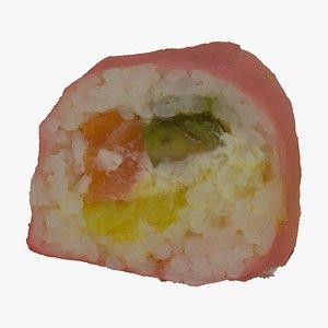 3D philadelphia salmon mango soy model