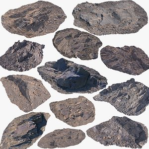 3D Ground rock collection model