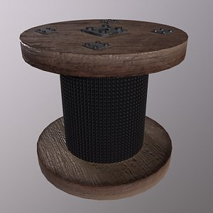 Pulley Game ready - Low Poly 3d model Low-poly 3D model model