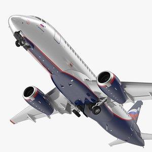3D Sukhoi Superjet 100 95lr Aeroflot Rigged